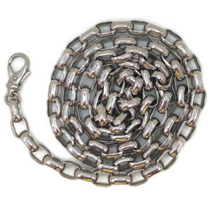 white gold on silver Necklace chain oval rolo